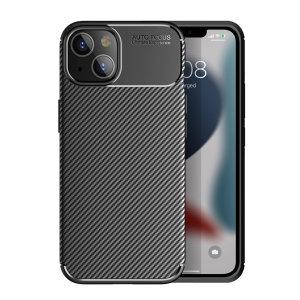 Olixar Carbon Fibre iPhone 13 mini Tough Case - Black