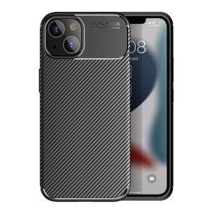 Olixar Carbon Fibre iPhone 13 Tough Case - Black