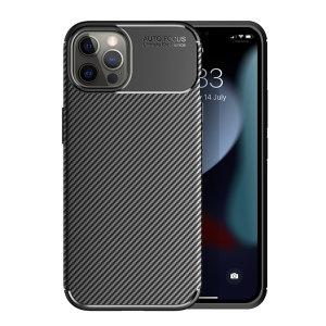 Olixar Carbon Fibre iPhone 13 Pro Tough Case - Graphite