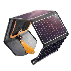 Cheotech Solar Powered Foldable 22W Dual USB Charger