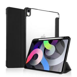 "Olixar iPad Air 4 10.9"" 2020 Wallet Case W/ Apple Pencil Holder- Black"