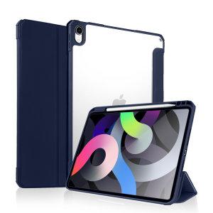 "Olixar iPad Air 4 10.9"" 2020 Wallet Case W/ Apple Pencil Holder - Blue"