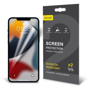 Olixar iPhone 13 mini Film Screen Protectors - Two Pack