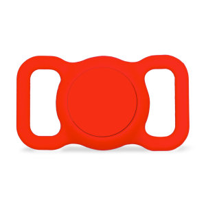 Olixar Apple AirTag Protective Clip On Pet Collar Case - Red
