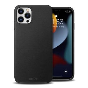 Olixar Genuine Leather iPhone 13 Pro Slim Case - Graphite