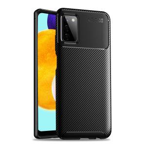 Olixar Carbon Fibre Samsung Galaxy A03S Protective Case - Black
