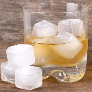 Kikkerland Reusable Ice Cubes - 30 Pack - Clear