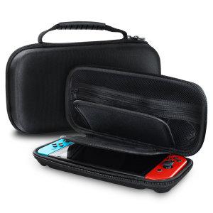 Olixar Hard Shell Nintendo Switch OLED Travel Case - Black
