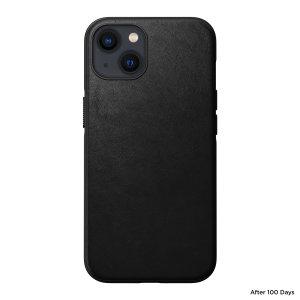 Nomad iPhone 13 MagSafe Horween Leather Modern Case - Black