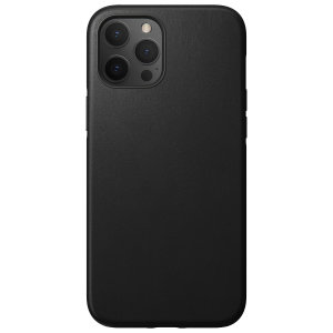 Nomad iPhone 13 Pro Max Horween Leather Modern Case - Black