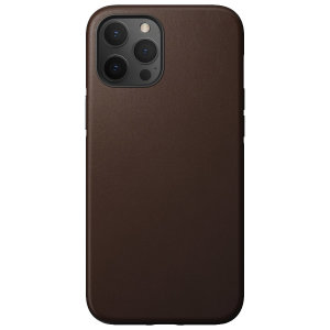 Nomad iPhone 13 Pro Max Horween Leather Modern Case - Brown
