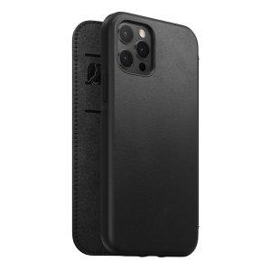 Nomad iPhone 13 Pro Horween Leather Modern Folio Case - Black