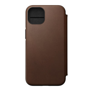 Nomad iPhone 13 Horween Leather Modern Folio Case - Brown