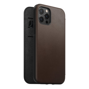 Nomad iPhone 13 Pro Horween Leather Modern Folio Case - Brown