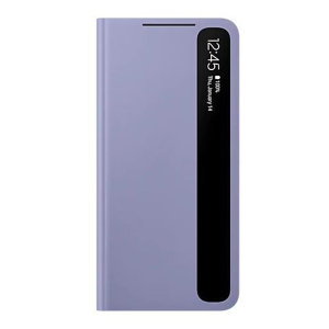 Official Samsung Galaxy S21 FE Smart Clear View Case - Lavender
