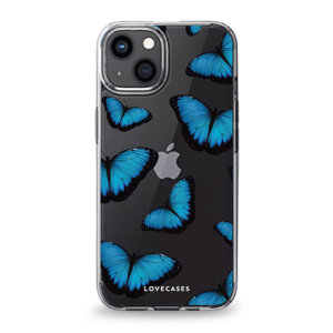 LoveCases iPhone 13 Gel Case - Blue Butterfly