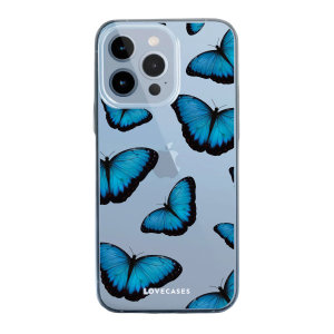 Lovecase iPhone 13 Pro Gel Case - Blue Butterfly