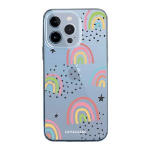 LoveCases iPhone 13 Pro Gel Case - Abstract Rainbow
