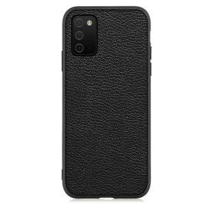 Olixar Genuine Leather Samsung Galaxy A03S Slim Case - Black