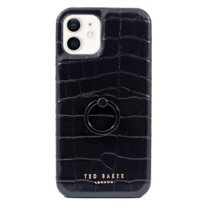 Ted Baker Half Wrap iPhone 12 Case With Finger Loop - Black