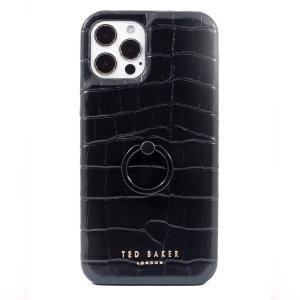 Ted Baker Half Wrap iPhone 12 Pro Case With Finger Loop - Black