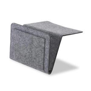 Olixar Remote Control Bedside Caddy Storage Organiser - Grey