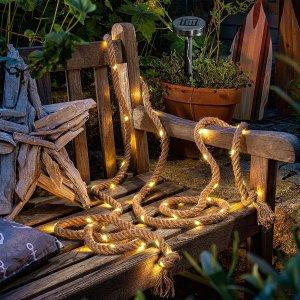 Auraglow Solar Powered 60 Led Garden Rope Light