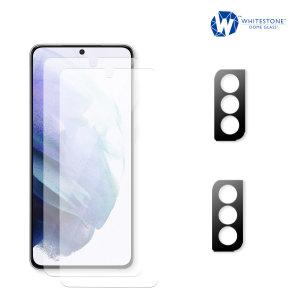 Whitestone Dome Samsung Galaxy S21 Screen & Camera Protector - 2 Pack
