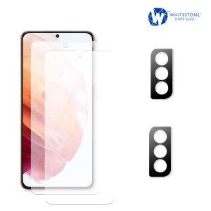 Whitestone Samsung Galaxy S21 Plus Screen & Camera Protector - 2 Pack