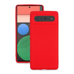 Olixar Google Pixel 6 Soft Silicone Case - Red