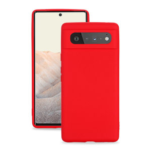 Olixar Google Pixel 6 Pro Soft Silicone Case - Red