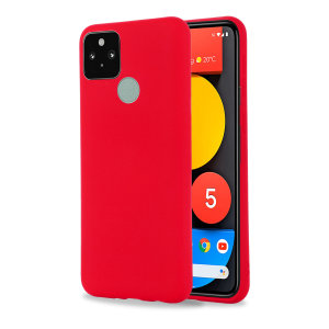 Olixar Google Pixel 5a Soft Silicone Case - Red