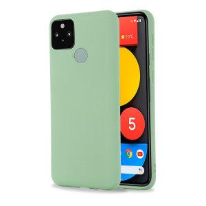 Olixar Google Pixel 5a Soft Silicone Case - Green