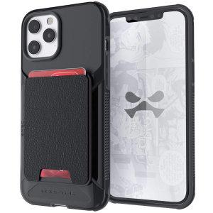 Ghostek Exec 5 iPhone 13 Pro Max Genuine Leather Wallet Case - Black