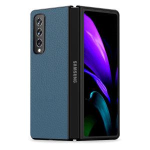 Olixar Genuine Leather Samsung Galaxy Z Fold 3 Case - Green