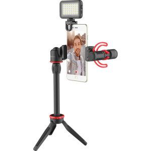 Boya Universal Smartphone Vlogging Kit with LED Light and Tripod