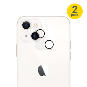 Olixar iPhone 13 Tempered Glass Camera Protector - Two Pack