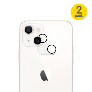Olixar iPhone 13 mini Tempered Glass Camera Protector - Two Pack