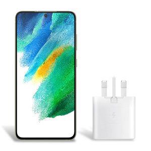 Official Samsung Galaxy S21 FE 25W PD USB-C UK Wall Charger - White
