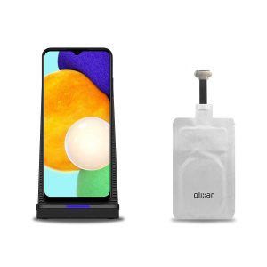 Olixar Samsung Galaxy A03S 10W Wireless Charging Stand & Adapter
