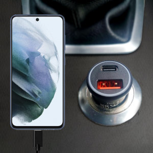 Olixar Samsung Galaxy S21 FE 36W Dual Car Charger & 1.5m USB-C Cable