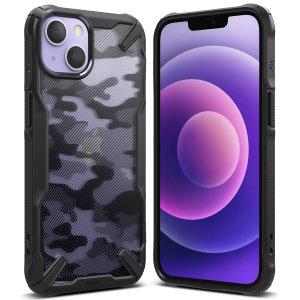 Ringke Fusion X iPhone 13 Protective Case - Camo Black
