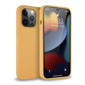 Olixar Soft Silicone iPhone 13 Pro Max Case - Sunset Gold