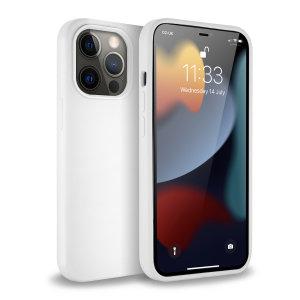 Olixar Soft Silicone iPhone 13 Pro Case - White