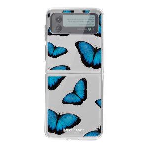 LoveCases Samsung Galaxy Z Flip 3 Gel Case - Blue Butterfly