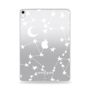 Lovecases iPad mini 6 2021 6th Gen. Gel Case - White Stars And Moons