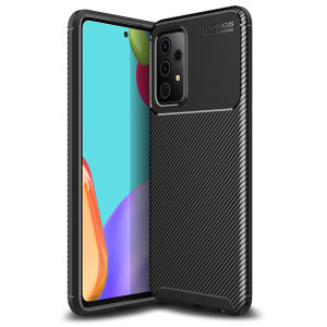 Olixar Carbon Fibre Samsung Galaxy A52s Protective Case - Black