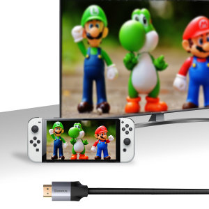 Baseus Nintendo Switch OLED Braided HDMI Cable - 3m - Grey