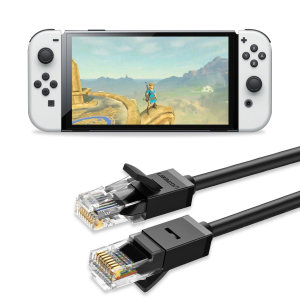 Ugreen Nintendo Switch OLED RJ45 Cat6 Ethernet Cable - 3m - Black