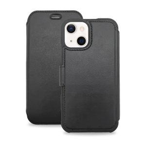 Olixar MagSafe Compatible iPhone 13 Leather-Style Case - Black